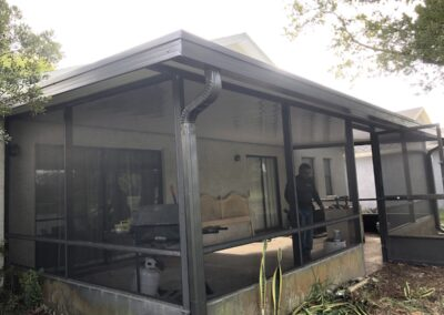 Metal Patio Roofing with Gutters